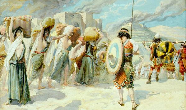 Сыны Израиля берут в плен мидьянских женщин. Джеймс Тиссо, 1896-1900