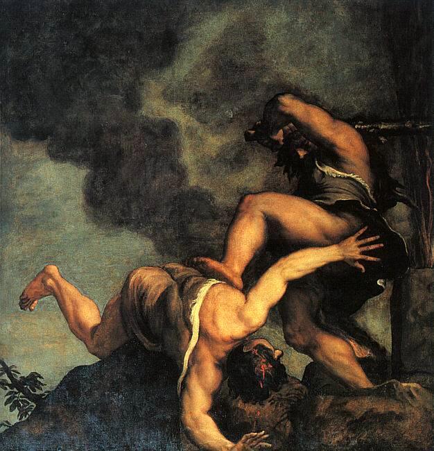 Каин и Авель. Тициан, 1542-44