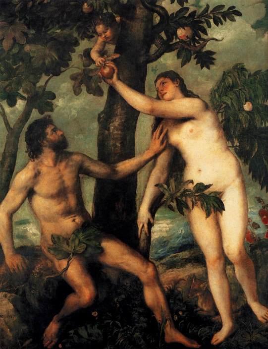 Грехопадение. Тициан, ок. 1570
