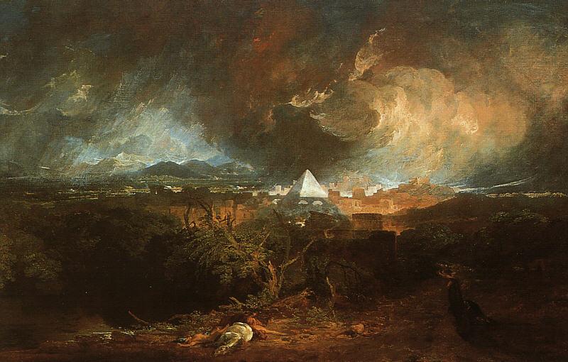 Пятая казнь египетская: мор скота. Уильям Тернер, 1800