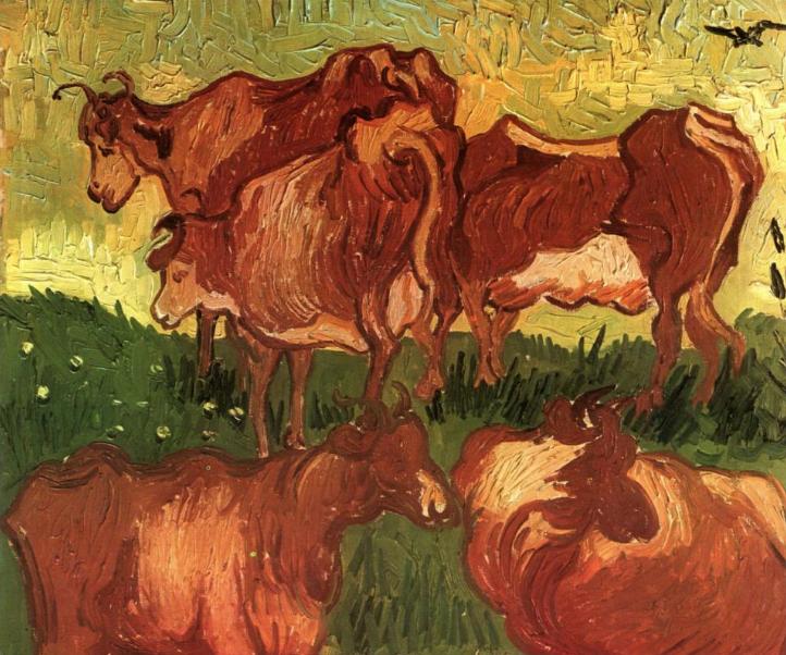 Коровы. Винсент Ван Гог, 1890