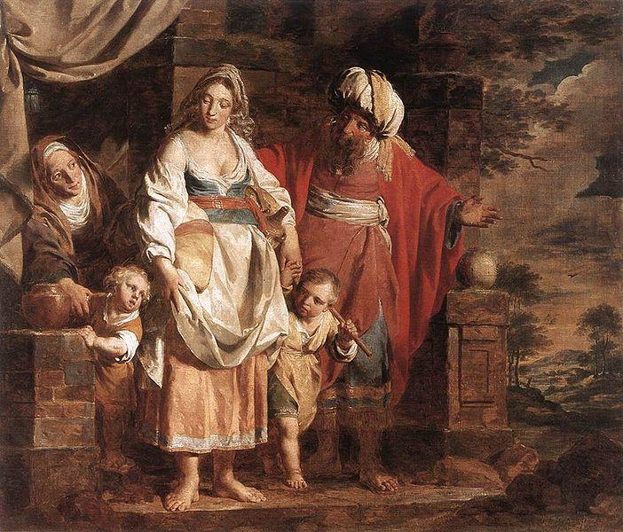 Агар и Ишмаэль, изгнанные Авраамом. Пьер Жозеф Верхаген, 1781