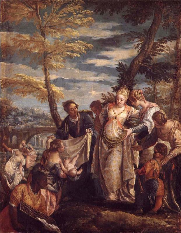 Моше находят в водах Нила. Паоло Веронезе, 1580