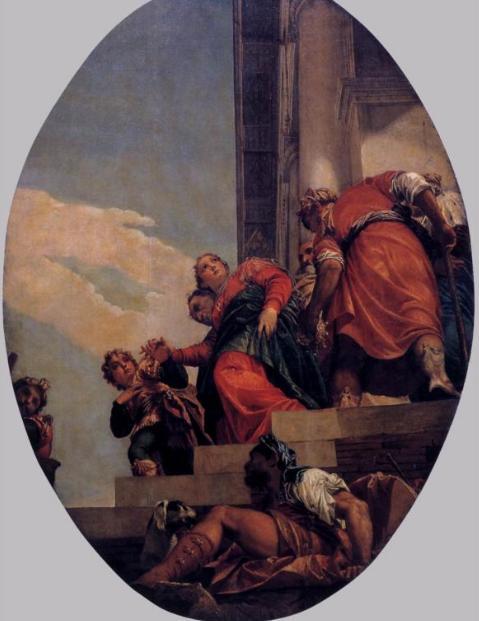 Изгнание царицы Вашти. Паоло Веронезе, 1556