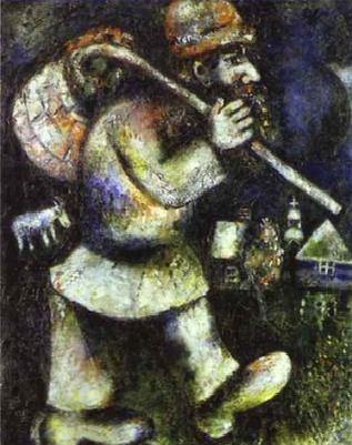 Странствующий еврей. Марк Шагал, 1925