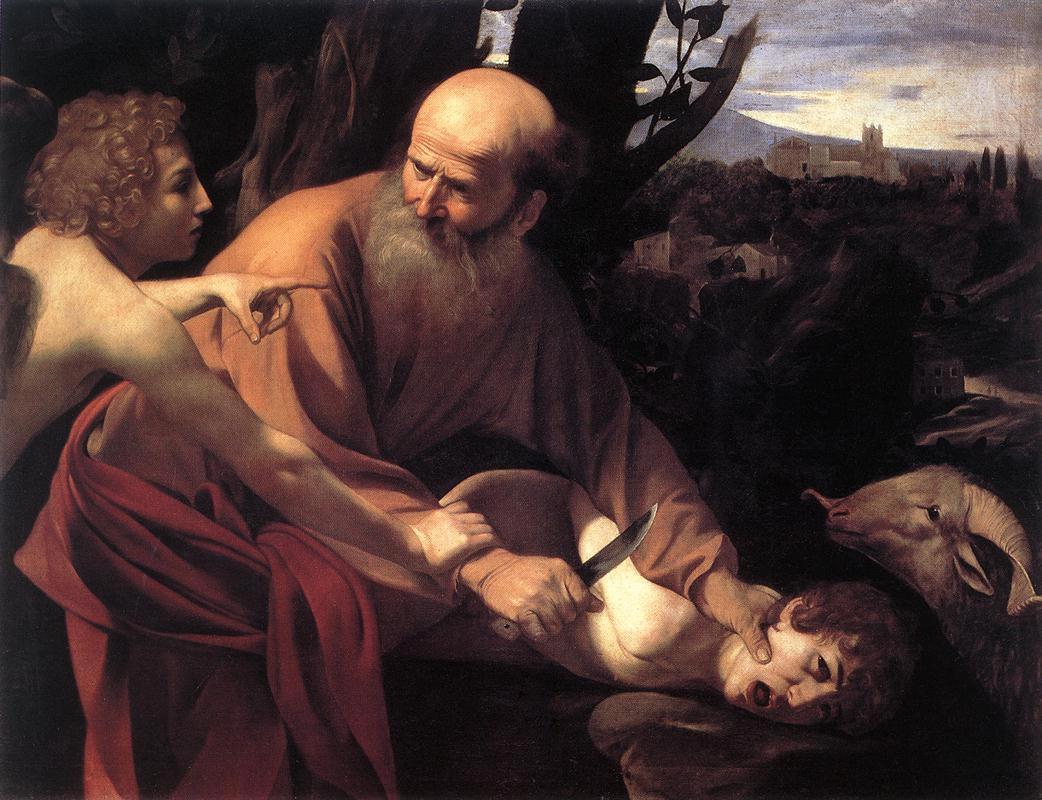 'Жертвоприношение Йицхака', Караваджо