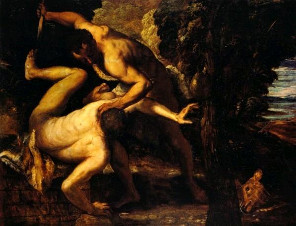 Каин и Авель. Тинторетто, 1550-53