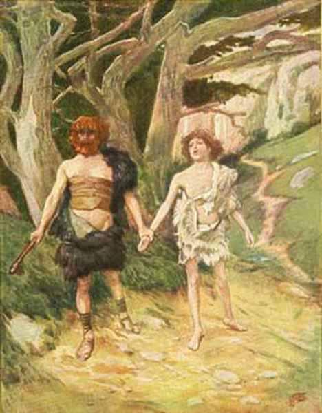 Каин ведет Авеля на смерть. Джеймс Тиссо, 1896-1902