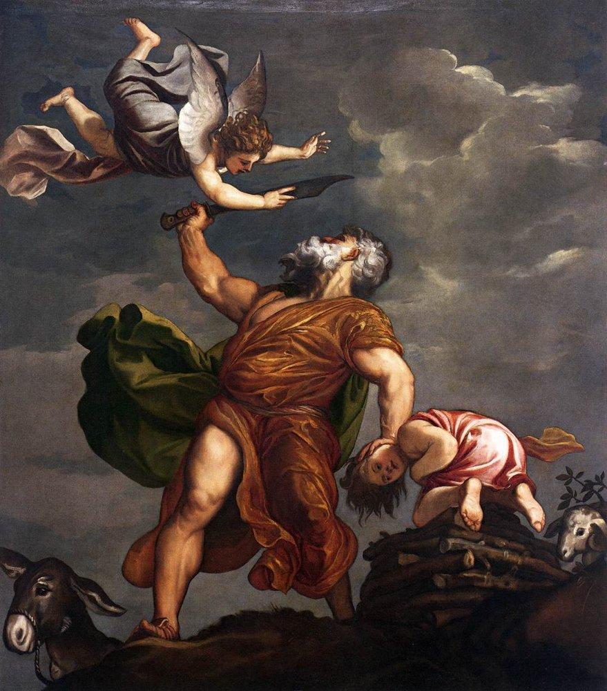 Принесение в жертву Йицхака. Тициан, 1542-1544