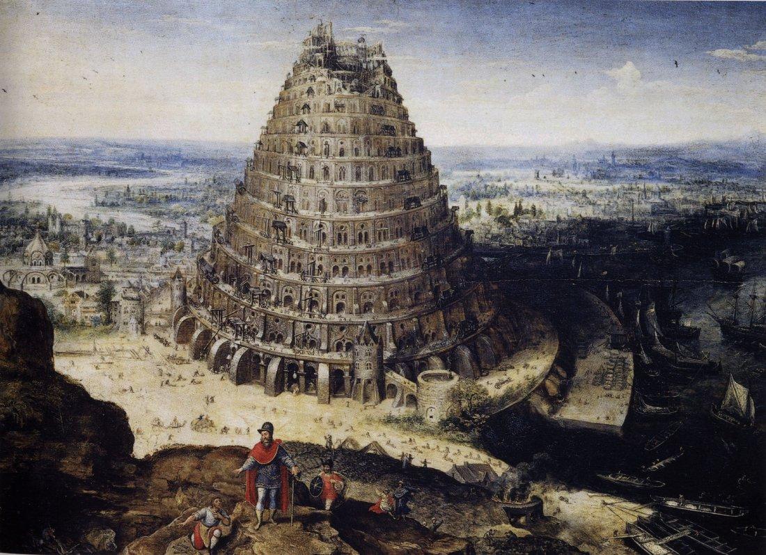 Вавилонская башня. Лукас ван Фалькенборх, 1594