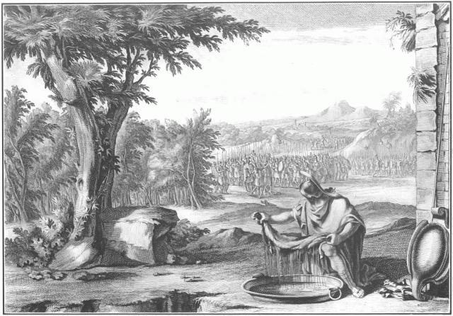 Гидеон испытывает Бога. Иллюстрация к Библии