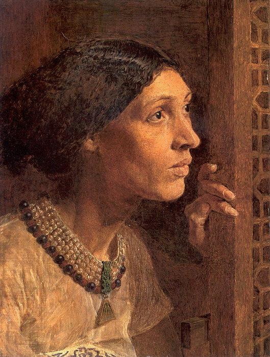Мать Сисеры, смотрящая в окно. Альберт Джозеф Мур, 1861 г.