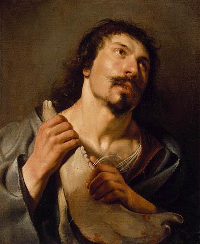 Саломон де Брай. Самсон с ослиной челюстью 1636 г.