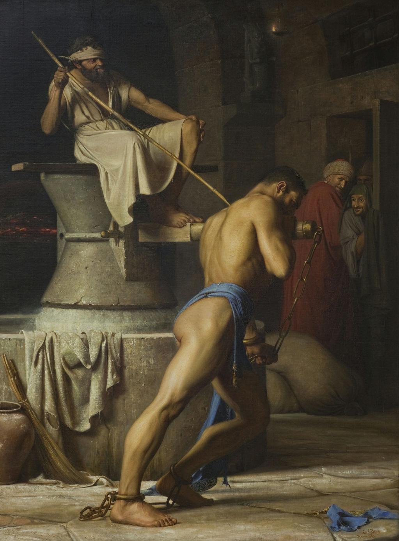 21Carl Bloch 1834-90 ,Samson and the phlistinnes 1863