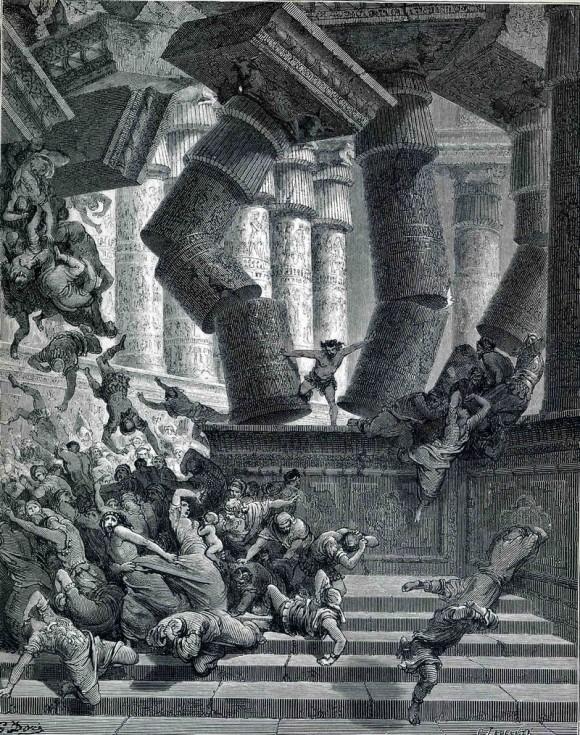 Смерть Самсона. Гюстав Доре (1832-1883)