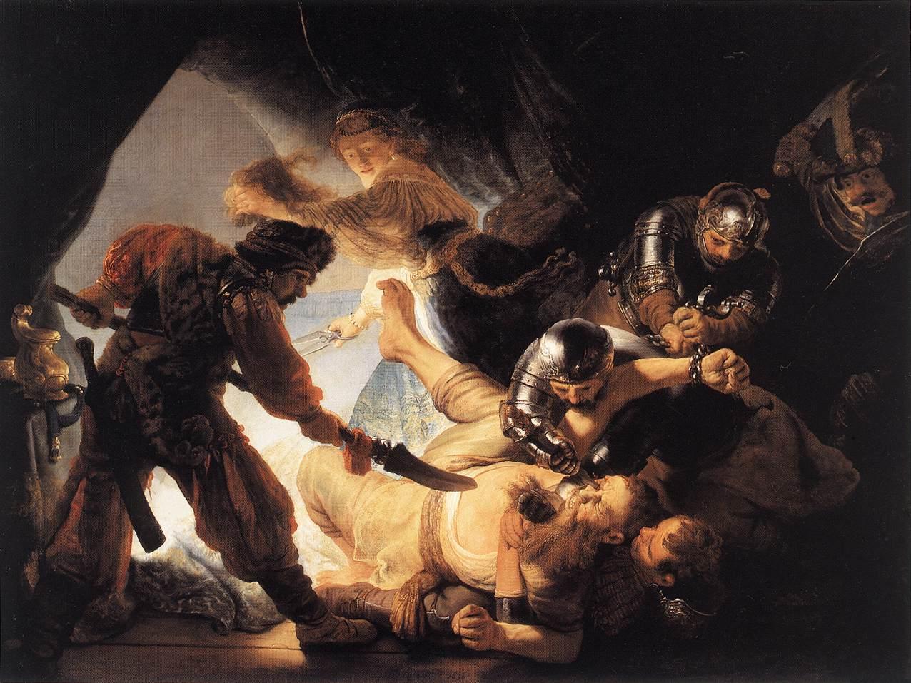 Ослепление Самсона. Рембрандт Харменс ван Рейн (1606-1669)
