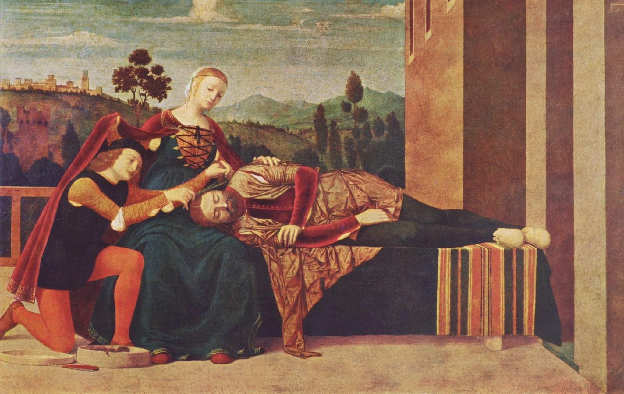 Самсон и Далила. Фрнанческо Мороне (1471-1529)