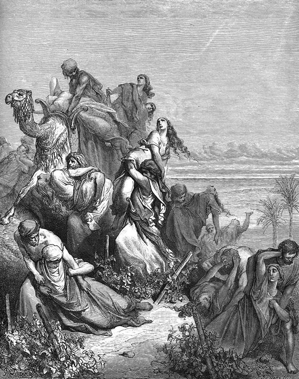 Похищение девиц в Силоме (Шило). Гюстав Доре (1832-1883)