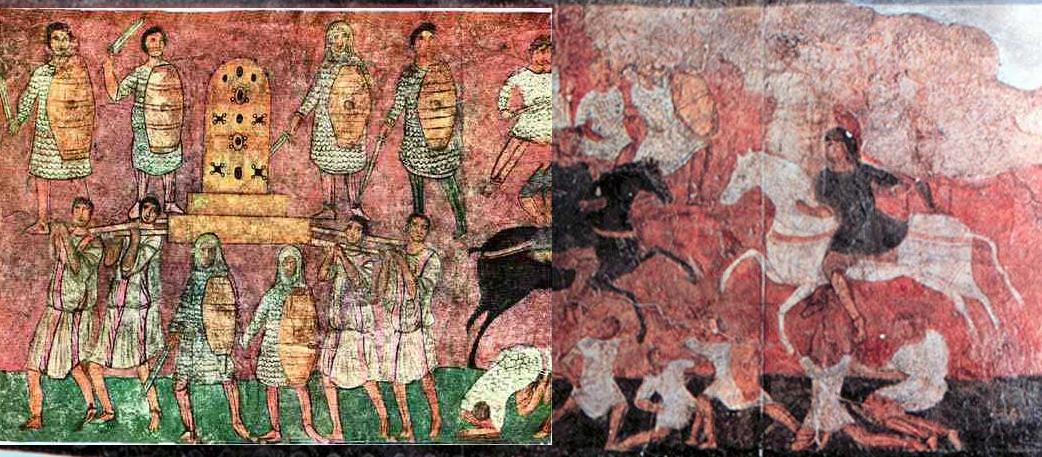 Битва при Эвен-Эзере. Фреска синагоги Дура-Европос (Сирия), 3 век