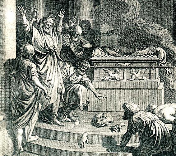 Ковчег завета в храме Дагона. Иллюстрация к Библии