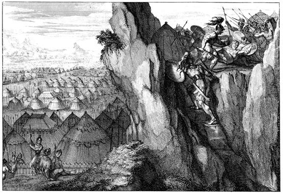 Йонатан со слугой идет в лагерь филистимлян. Martin David (1639-1721)
