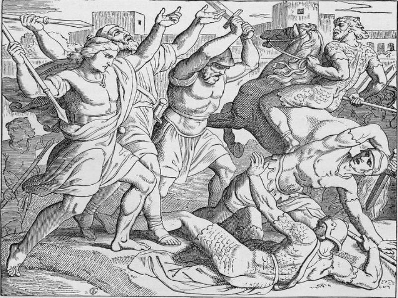Первая победа Саула. Шнорр фон Корольсфельд Юлиус (1794 - 1872)