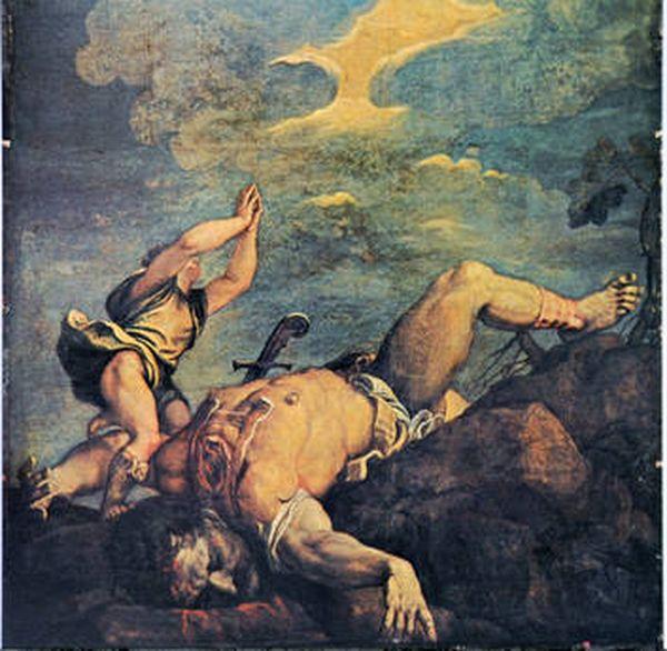 Давид и Голиаф. Тициан Вечеллио (около 1542-44)