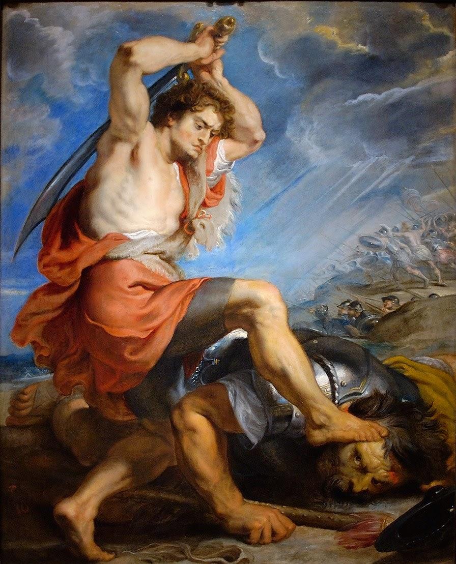 Давид и Голиаф. Питер Пауль Рубенс (ок.1616)