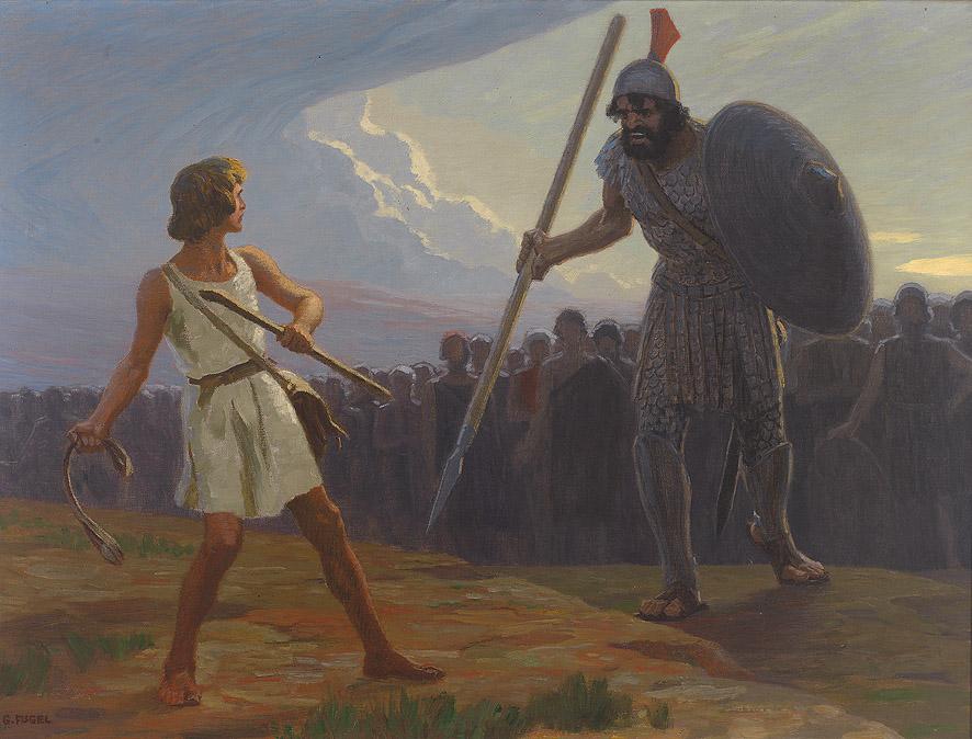 Давид и Голиаф (Гольят). Gebhard Fugel (1863-1939)