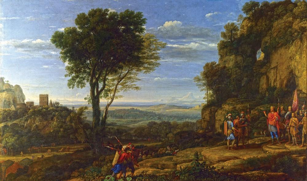 Пейзаж с Давидом у Адулламской пещеры. Лоррен Клод (1600-1682)