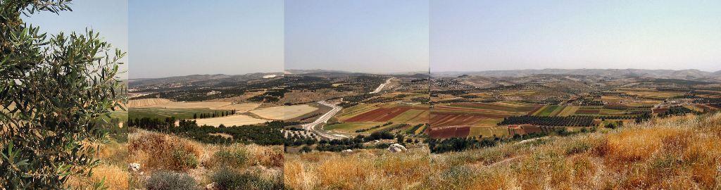 вид на Бет-Шемеш с холма Адулам