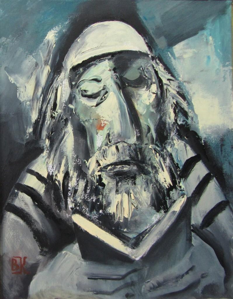Вениамин Клецель - Илл. 2. Читающий Тору (2014)