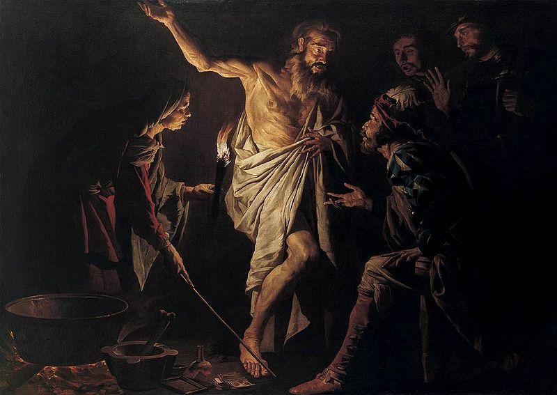 Саул и Аэндорская ведьма (Маттиас Стом, 1635 год)