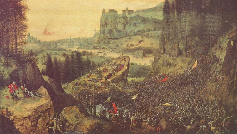 Смерть Саула, Питер Брейгель старший, 1564