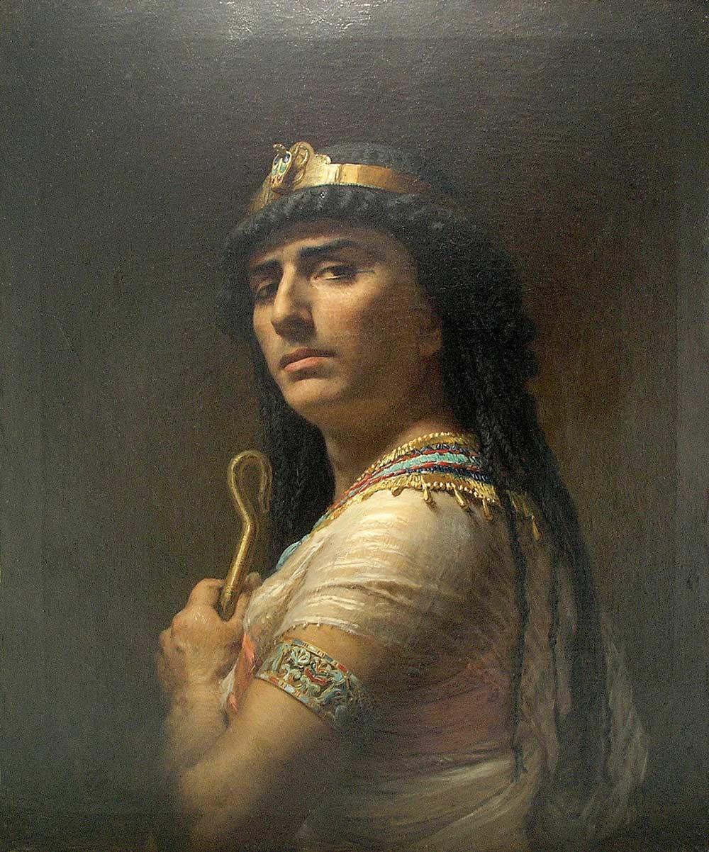 Царь Давид. Картина Ф. А. Бриджмена. 1877 г.