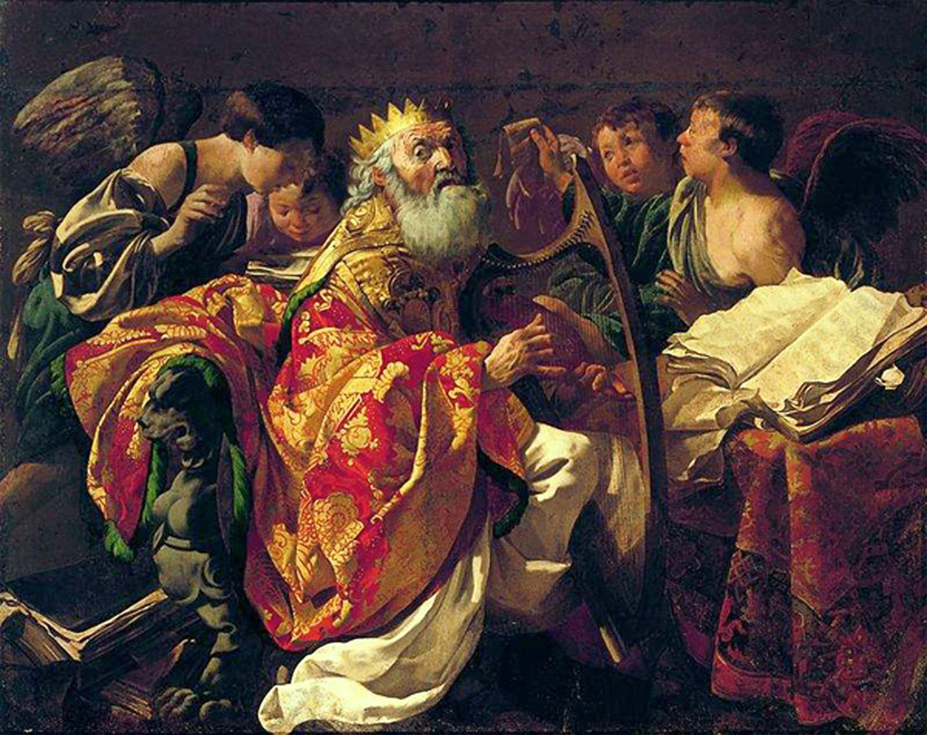 Царь Давид, играющий на арфе. Тербрюгген Хендрик (1588 - 1629).