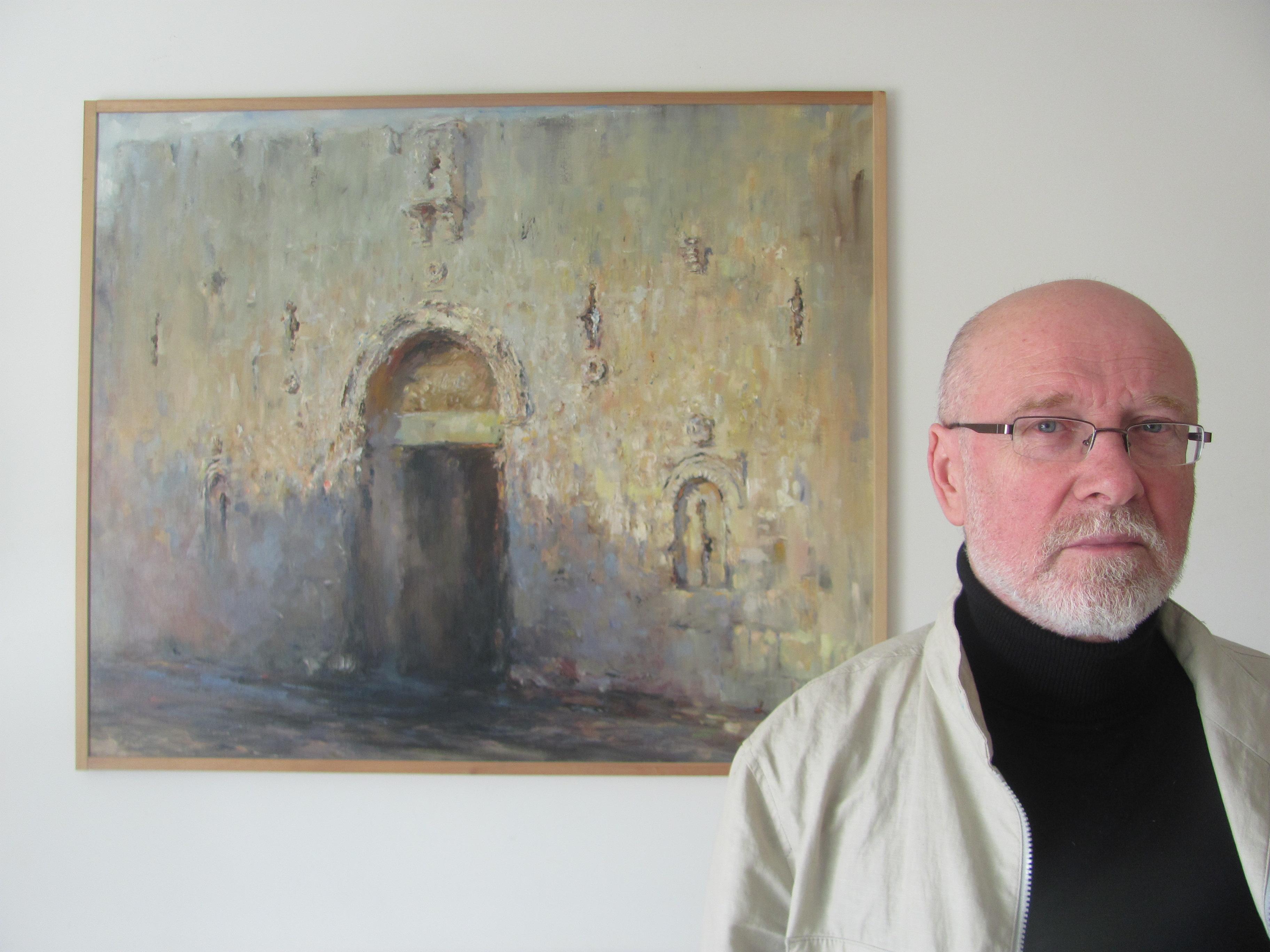 Петр Глузберг и Сионские ворота. Фото Алека Д. Эпштейна