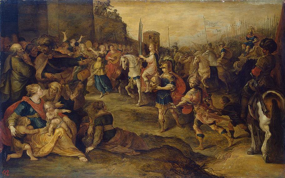 Въезд Давида в Иерусалим. Франс Франкен Младший, 1630
