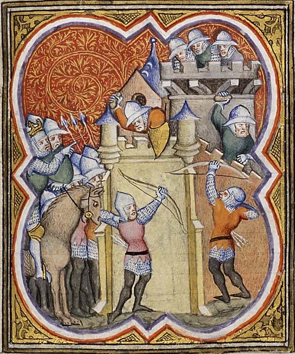 миниатюра из рукописи 'Den Haag', Франция, 1372
