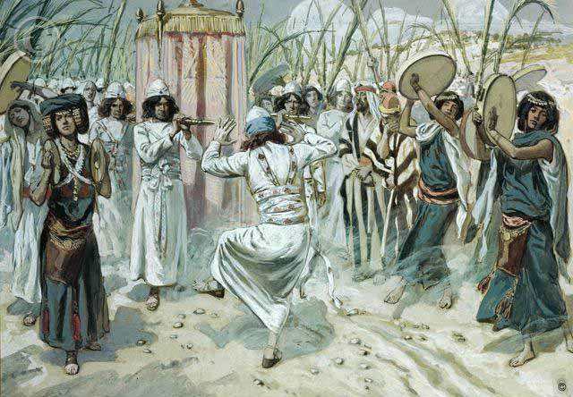 Давид танцует перед Ковчегом завета. Джеймс Тиссо (1836-1902)