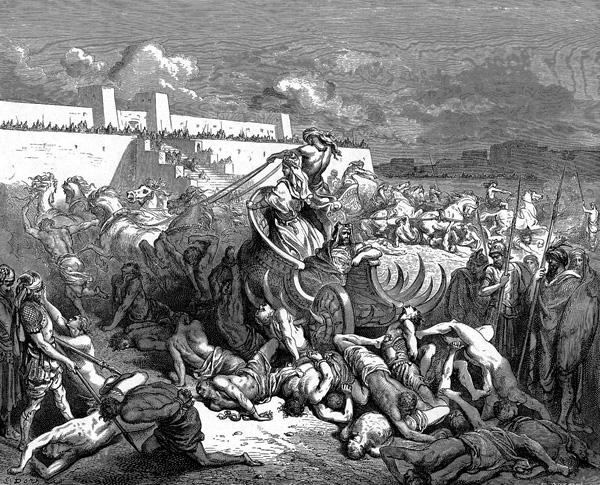 Давид наказывает аммонитян. Гюстав Доре (1832-1883)