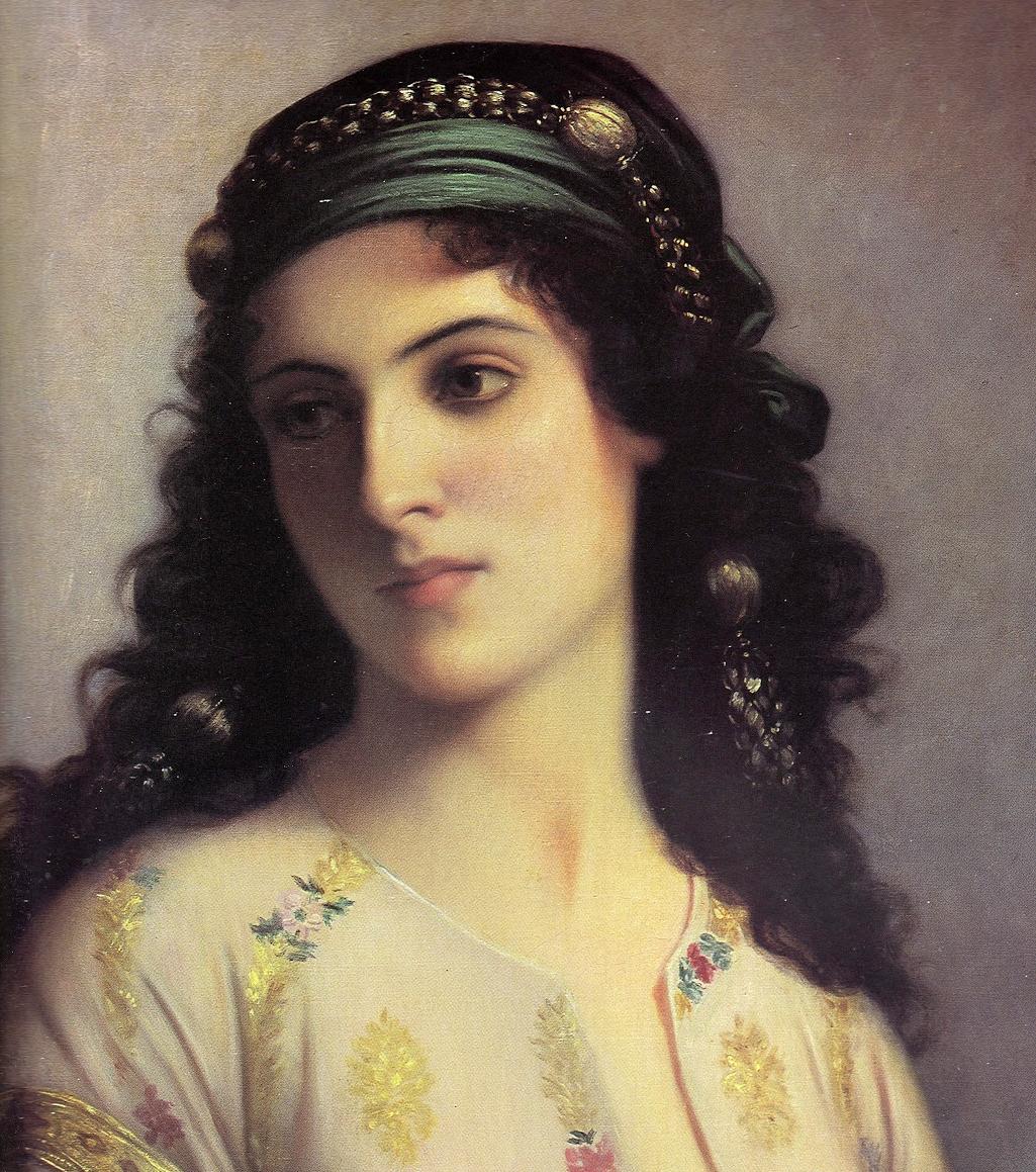 Шарль Ландель (1821-1908). Еврейка из Танжера (фрагмент)