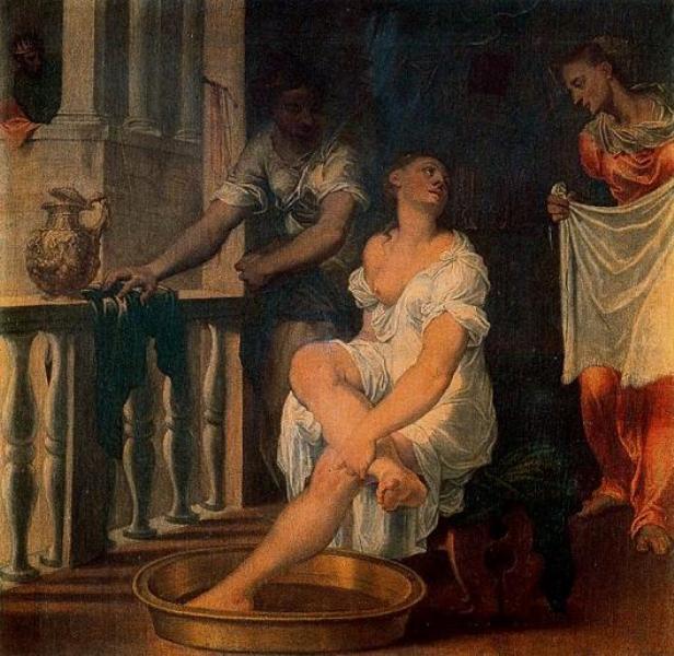 Гверчино. Купающаяся Вирсавия с двумя служанками, 1640 г