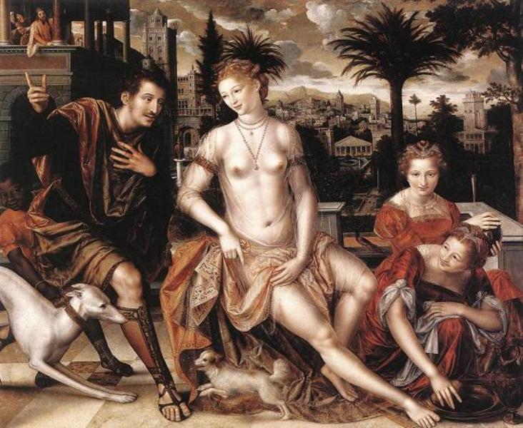 Ян Массейс. Давид и Вирсавия, 1562 г.