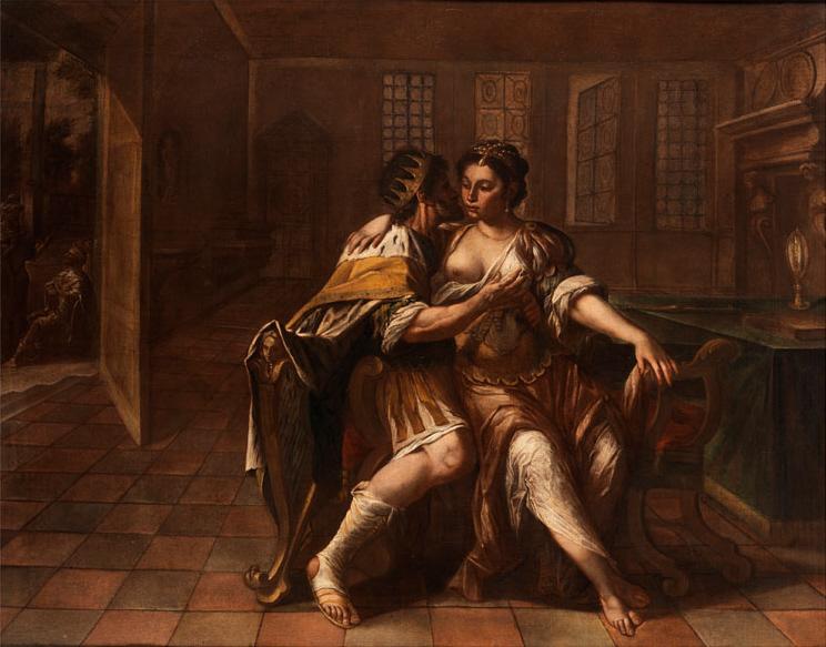 Давид и Бат-Шева. Неизвестный автор, 17 в.