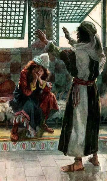 Натан порицает Давида. Джеймс Тиссо, 1896-1902
