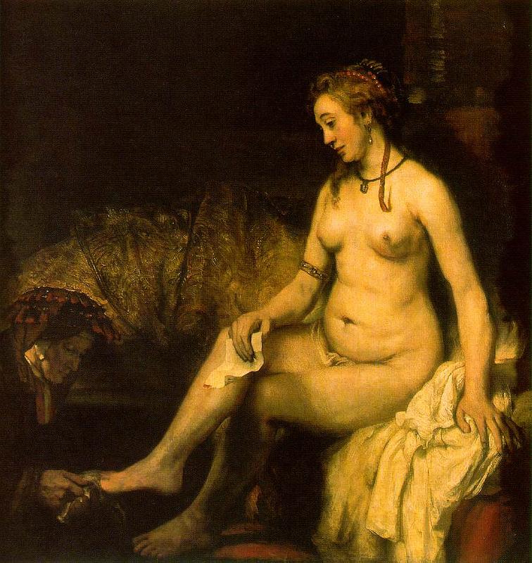 Рембрандт. Купание Бат-Шевы, 1654