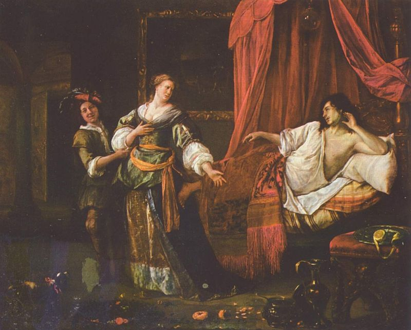 Амнон и Тамар (Фамарь). Ян Стен 1625,1626–1679