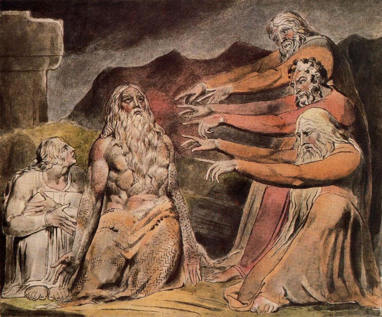 Уильям Блейк (1757- 1827). Иллюстрация к книге Иова