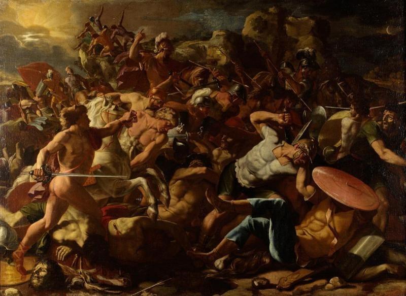 Никола Пуссен. Битва израильтян с амореями